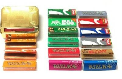 AUTOMATIC ROLLING MACHINE CIGARETTE GOLD TIN and RIZLA SWAN ZIG ZAG RAW PAPERS