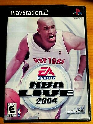 NBA Live 2004 (Sony PlayStation 2 03) NTSC video game Raptors Toronto basketball