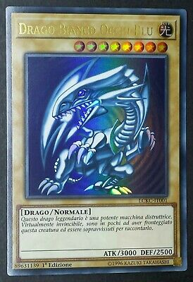 DRAGO BIANCO OCCHI BLU Ultra Rara in Italiano D LCKC-IT001 YUGIOH
