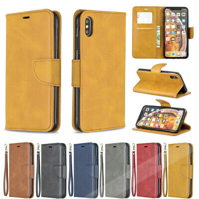 For Huawei P Smart Plus 2019 Honor 8A 8C Premium Leather Wallet Cover Flip Case