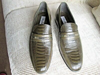 d8970c9525f45 Mens Paco Milan Olive Green Leather Slip On Shoes, Size 41,Fits A Size