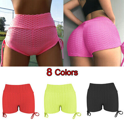 Women Girls Shorts Compression Yoga Pants Sports Gym Fitness Running Butt Lift