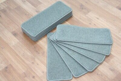 14 Carpet Stair case Treads Dove Grey Stain Free - Carpet Stair Pads