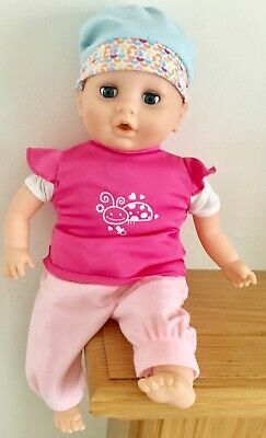 "Really Pretty Laughing 16""  Soft Bodied Baby Doll In Cute 2 Puece Outfit & Hat"