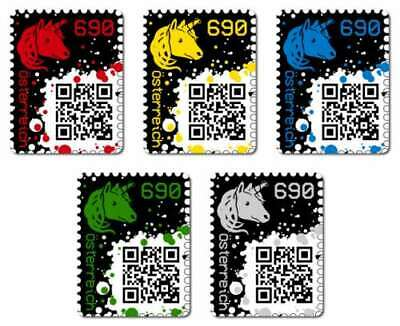 Crypto Stamps - Red, Yellow, Blue, Green, Black - extremly rare