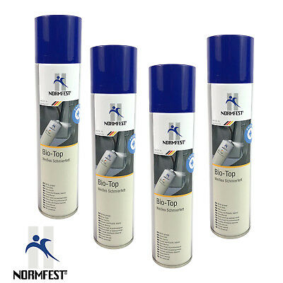 4 X Normfest Bio-Top White Grease Spray 200 Ml For Universal Use