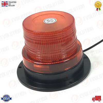 Amber Magnetic Mount Emergency / Safety Flat Top Led Beacon Light