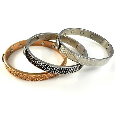 MAGNETIC BRACELET bangle 12 STRONG MAGNETS arthritis Ladies Womens Gents Mens