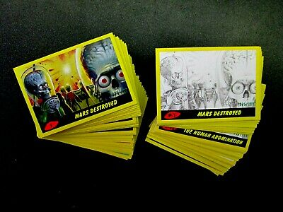 Mars Attacks The Revenge Yellow  Parallel Singles**Pick Your Numbers Below***