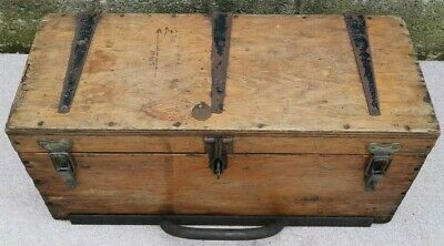 Vintage Antique Tool Box / Strong Box