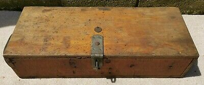 Vintage Antique Tool Chest / Strong Box