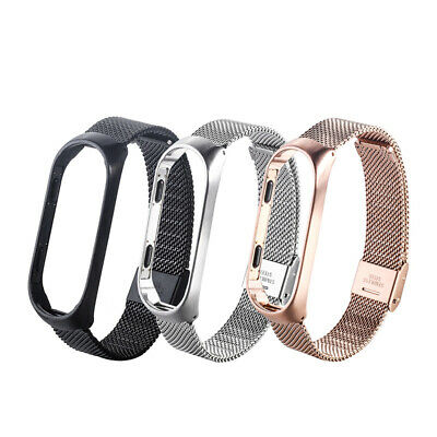 For Xiaomi Mi Band 3 Smart Bracelet replacement Stainless Steel Wrist Band Strap