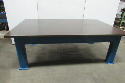 "H.D. 1-3/8"" Thick Top Steel Fabrication Layout Welding Table Work Bench 95""x60"""