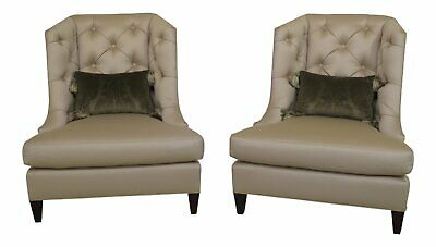 Fine 2 Barbara Barry For Baker Furniture Beige Corduroy Club Ibusinesslaw Wood Chair Design Ideas Ibusinesslaworg