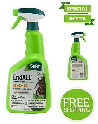 Safer Brand End All Insect Killer Ready-to-Use Kills 45 Different Insects 32 oz