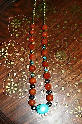 Vintage Carnelian And Turquoise Necklace
