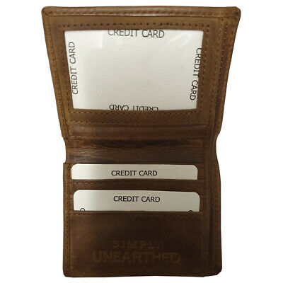 Simply Unearthed Soft Hide Leather wallet with 4 cards slots