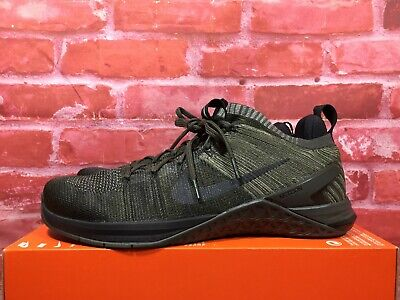 32d514a2930aa Nike Mens Metcon Dsx Flyknit 2 Running Shoes Dark Stucco Black Newsprint  924423