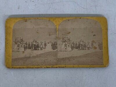 """Richardson Vermont Stereoview Card - Waiting for the """"Williams"""", Camp Watson"""
