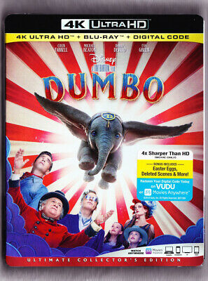 Dumbo 4K Blu-ray Digital Slipcover Brand NEW FREE~First Class Shipping!