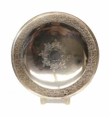 Tiffany & Co Makers Sterling Silver Serving Tray #20105 / 2575, Floral Engraved