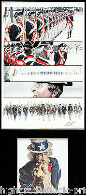 Uncle Sam #2 Original Art Page 15 By Alex Ross, Includes Free Poster!