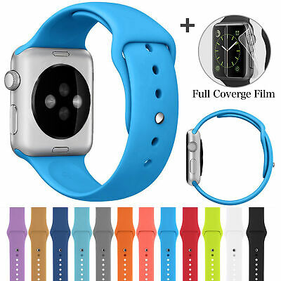Silicone Band Strap Sport Watch Band for Apple iWatch Series 4 1 2 3 38/42mm ZYS