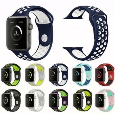 Sport Band Silicone Soft Replacement 38mm 40mm for Apple Watch Series 4 3 2 1 YS