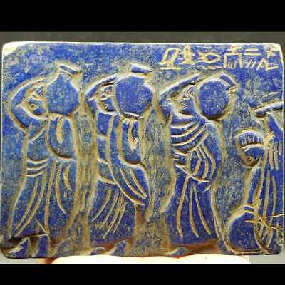 12 cm Lapis lazuli Stone Symbols Ancient carved Big Stone Females Stone Relief