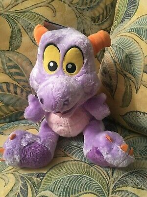 """Disney Parks Figment Big Feet 10"""" Plush NEW with Tags! Epcot Center Imagination"""