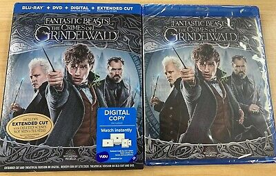 Fantastic Beasts The Crimes Of Grindelwald Blu-Ray+DVD+HD w/Slip Cover - SEALED!
