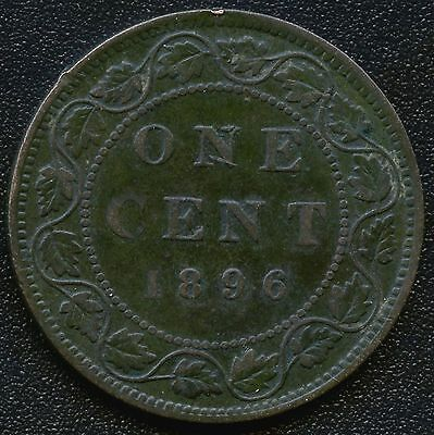 1896 (Far 6) Canada Large Cent Coin