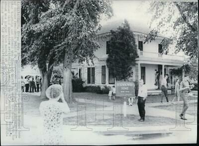 1968 Wire Photo View of the boyhood home of former President Dwight Eisenhower