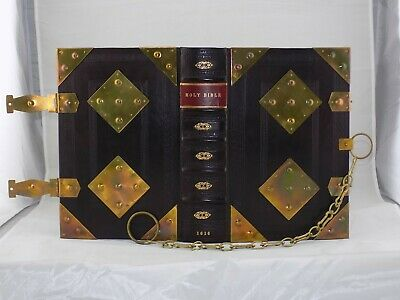 1616 KING JAMES HOLY BIBLE LECTERN FOLIO, 1st EDITION,4 TITLES, CHAINED & ARMOR