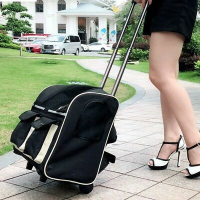 Pets Carrier Backpack Dog Cat Multiple Uses Travel Bags Fashion Trolley Rollers