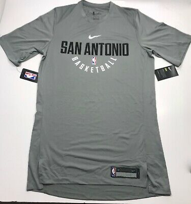 dd5e0bb7bf03c NIKE MENS NBA SAN ANTONIO SPURS SHORT SLEEVE PRE GAME SHOOT AROUND SHIRT  Size MT