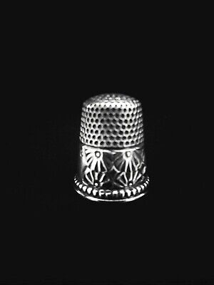 Antique Sterling Silver Ketcham and McDougall Thimble