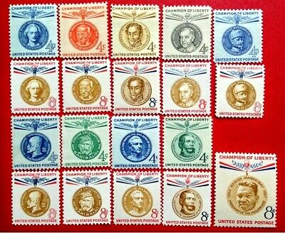 US Champions of Liberty Stamps SC#1096 /1175 Set of 19