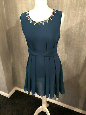 Tokyo Doll Teal Party Dress Size 12 New With Tags  - Free Postage