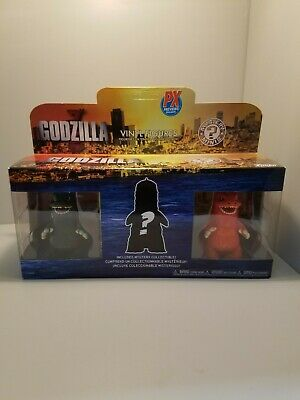 Funko Mystery Minis Godzilla 3-Pack Vinyl Figures Px Previews Exclusive