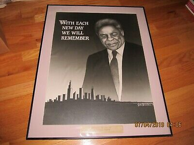 Ooak 1988 Harold Washington Chicago Mayor Original Drawing-Fiance Award