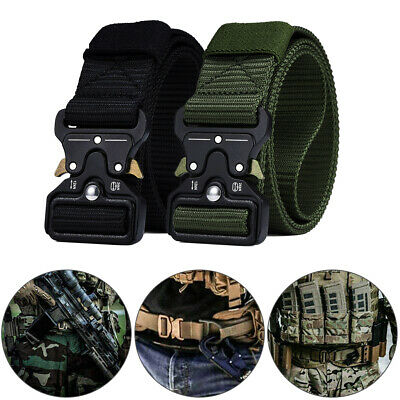 Male Military Tactical Gun Belt Quick Release Buckle Combat Waistband Adjustable