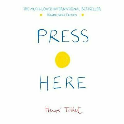NEW Press Here  By Herve Tullet Board Book Free Shipping