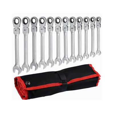 12 Pieces Adjustable Ratchet Wrenches Set 8-19 Labor-saving Tools