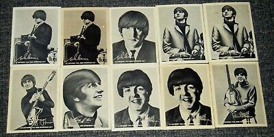 Vintage 1965 Happy-Ade Beatles Cards x10