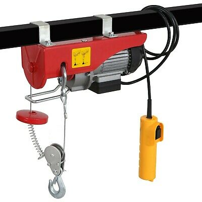 880 LBS Mini Electric Wire Cable Hoist Overhead Crane Lift VP