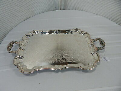 "Vintage! 19"" Leonard E.P. Silver-Plated Serving Tray"