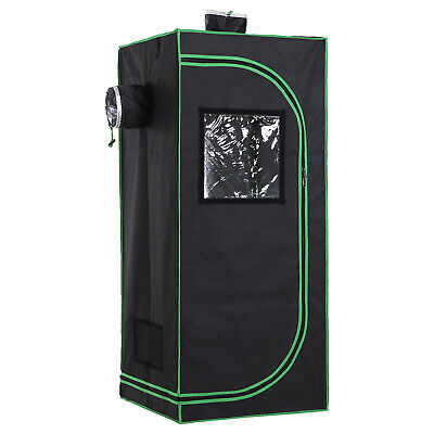 Outsunny 60*60*140cm Indoor Plant Grow Tent Green Room Hydroponic Canopy Mylar