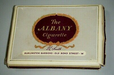 Vintage 1950's The Albany Cigarette Cardboard Box / Packet