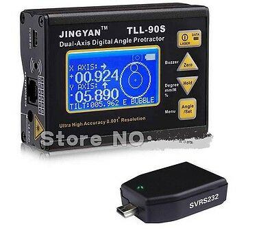 TLL-90S Protractor Inclinometer Laser level 0.005deg Accuracy+Bluetooth Dongle